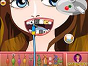 Modern Girl At Dentist