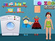 Zoe Washing Clothes