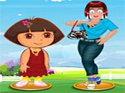 Zoe with Dora Dress Up