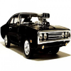 Black Beauty Muscle Car