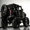 Customized Black Jeep Jigsaw