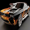 Fire Muscle Car