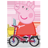 Piggy On Bike