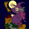 The Witch and Castle Coloring