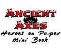 Ancient Axes Heroes on Paper Mini Book