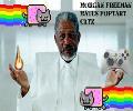 Morgan Freeman Hates Poptart Catz