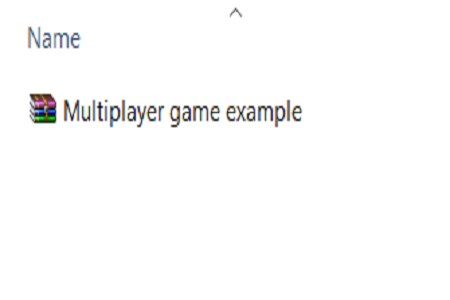 Multiplayer game example