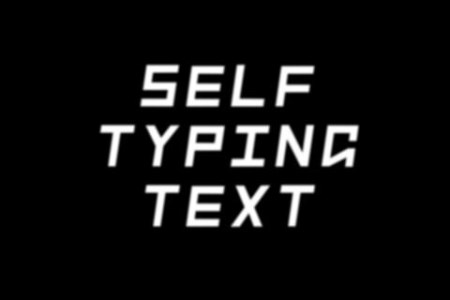 Self Typing Text